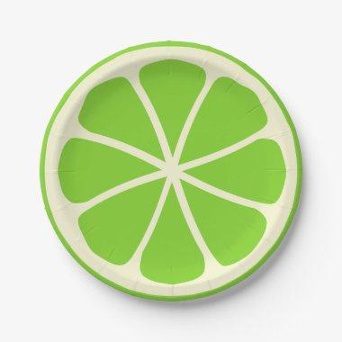 Citrus Party Lime Paper Plate