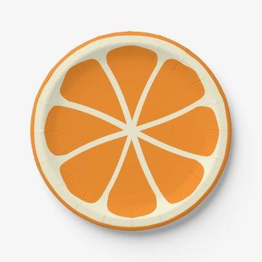 Citrus Party Orange Paper Plate