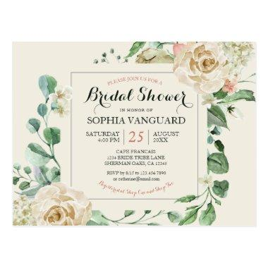 Classic Elegant Floral Bridal Shower Invitation PostInvitations