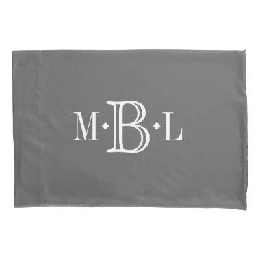 Classic Monogram Custom Pillow Case