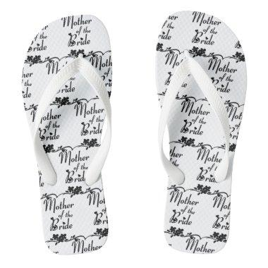Classic Mother of the Bride Wedding Flip Flops