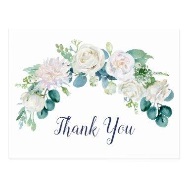 Classic White Flowers Thank You PostInvitations