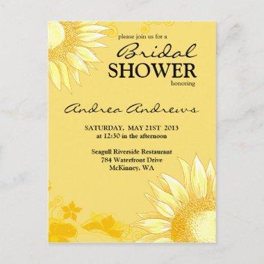 Classy & Fun Sunflower Yellow  Invite