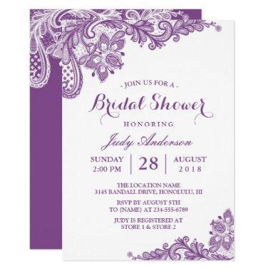 Classy Lavender Purple Modern Lace