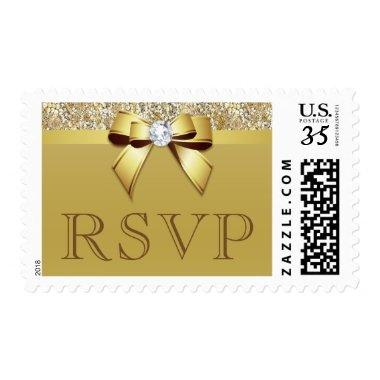 Classy RSVP Sequins Bow Postage