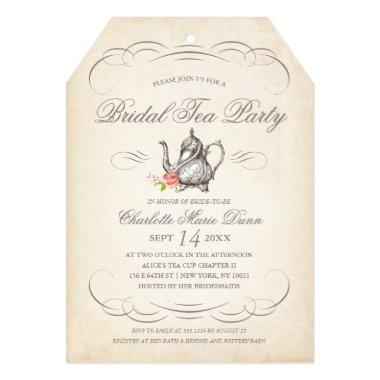 Classy Vintage Bridal Tea Party | Bridal Shower Invitations