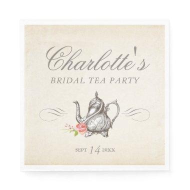 Classy Vintage Bridal Tea Party Napkins
