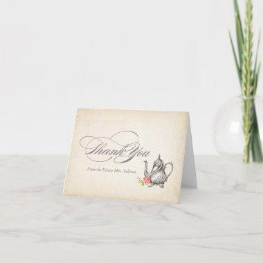 Classy Vintage Tea Party Thank You Invitations