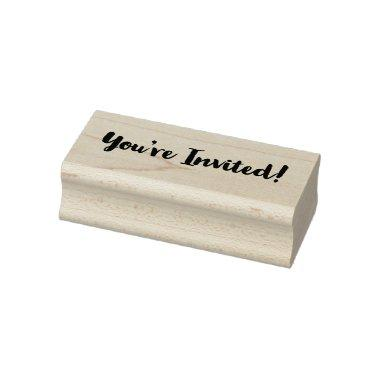 Classy You're Invited! Rubber Stamp