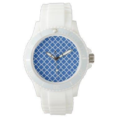 Cobalt Blue Quatrefoil Wrist Watch