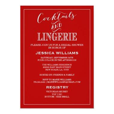 Cocktails & Lingerie Shower  | Red