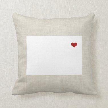 Colorado State Pillow Faux Linen Personalized