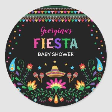 Colorful Mexican Fiesta Baby Shower Party Decor Classic Round Sticker