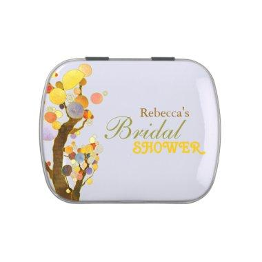 Colorful Modern Trees  Favors Jelly Belly Tin
