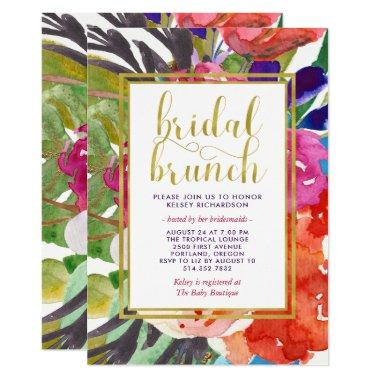 Colorful Tropical Bridal Brunch