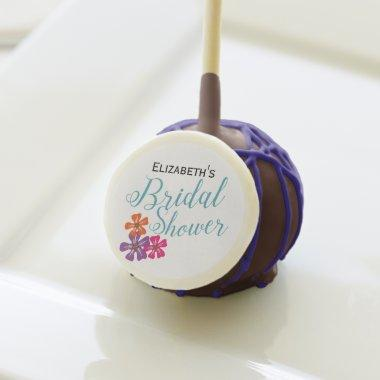 Colorful Tropical Flowers  Cake Pops