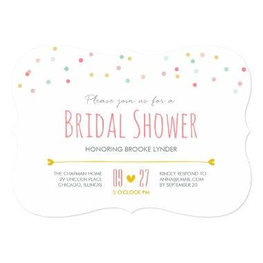 Confetti Bridal Shower Invitations