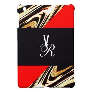 Cool Elegant Classic Stripes Monogram Chevron iPad Mini Cases