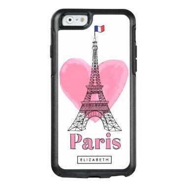 Cool Pink Paris Love Eiffel Tower OtterBox 6 Case
