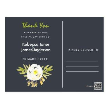 COOL WHITE & YELLOW FLORAL THANK YOU POST