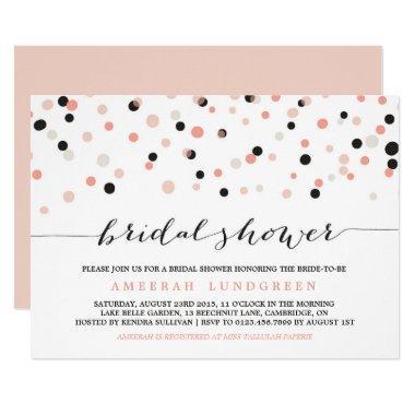 Coral Blush Confetti Dots