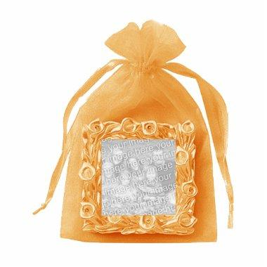 Coral Organza Photo Frame Sculpture