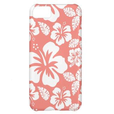 Coral Pink Tropical Hibiscus Cover For iPhone 5C