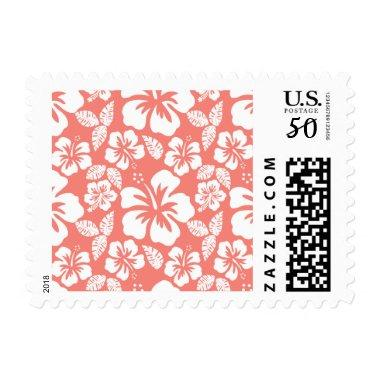 Coral Pink Tropical Hibiscus Postage