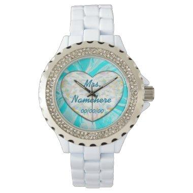 Countdown Wedding Watch for Bride! Add Name! Dates