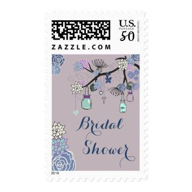 Country Mason Jars Floral Tree  Postage