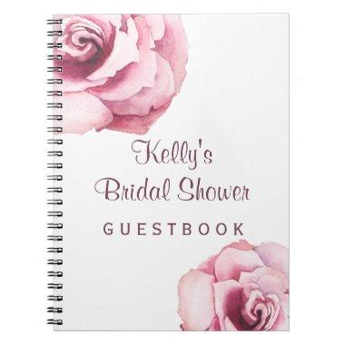 Country Rustic Rose Bridal Shower Guest Book