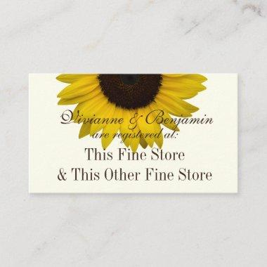 Country Sunflower Gift Registry Info Enclosure