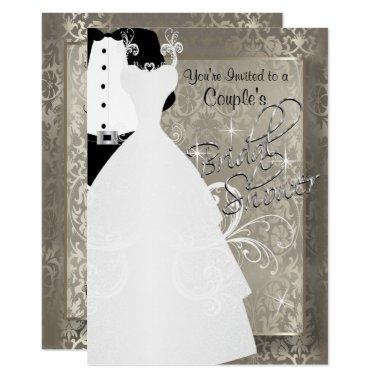 Couple's  in Antique Damask Silver