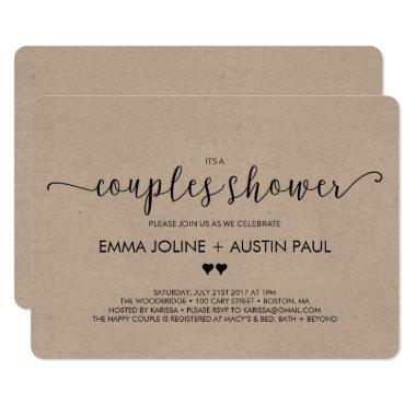 Couples Bridal Shower Invitations - Kraft