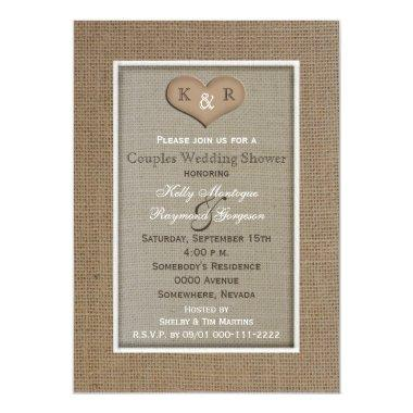 Couples Coed Wedding Shower  -- Burlap