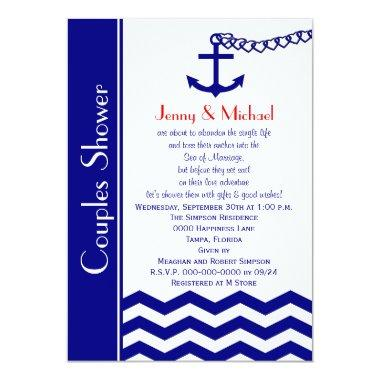 Couples Coed Wedding Shower  Navy Blue