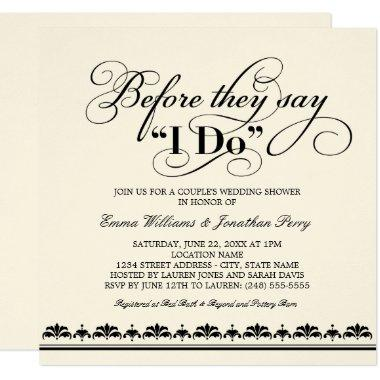Couple's Wedding Shower Invitations | Wedding Vows