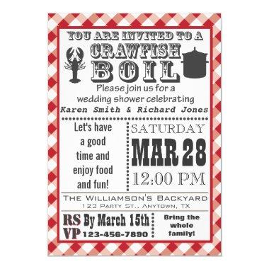 Crawfish Boil Wedding Shower Party Invitations
