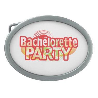 crazy bachelorette party wild retro vintage crazy oval belt buckle