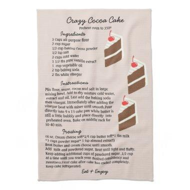 Crazy Cocoa Cake Recipe Kitchen Towel