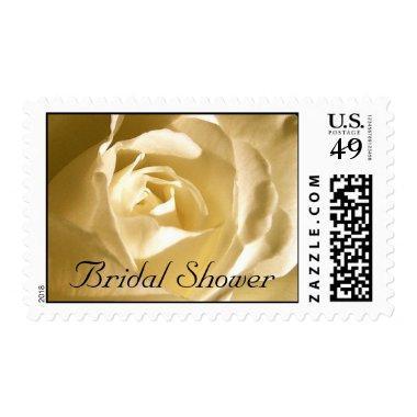 Cream Rose Bridal Shower Postage