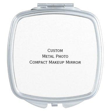 Create Custom Personalized Metal Photo Compact Mirror For Makeup