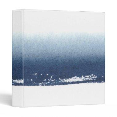 Create Own Peronalized Gift - Watercolor Navy Blue Binder