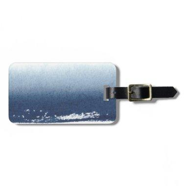 Create Own Peronalized Gift - Watercolor Navy Blue Luggage Tag