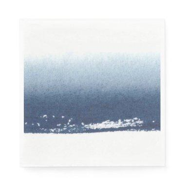 Create Own Peronalized Gift - Watercolor Navy Blue Napkins