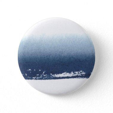 Create Own Peronalized Gift - Watercolor Navy Blue Pinback Button