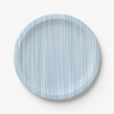 Create Own Personalized Gift |Baby Blue Watercolor Paper Plate