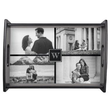 Create Your Own Customizable Wedding Photo Collage Serving Tray