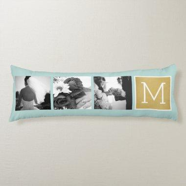 Create Your Own Wedding Photo Collage Monogram Body Pillow