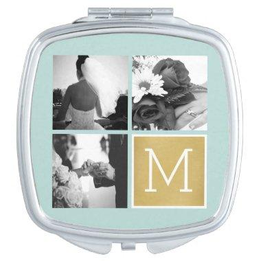 Create Your Own Wedding Photo Collage Monogram Makeup Mirror